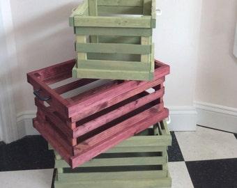 Decorative Wooden Storage Crate Rustic Wooden Storage Crate Linen Storage Container
