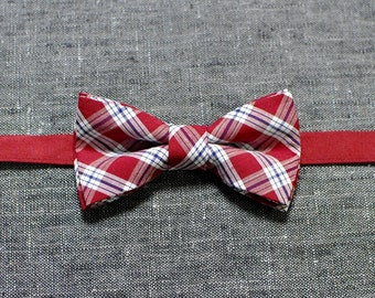 Men's red bow tie, checkered bow tie, valentine's day gift, wedding bow tie, baby bow tie, gift for him