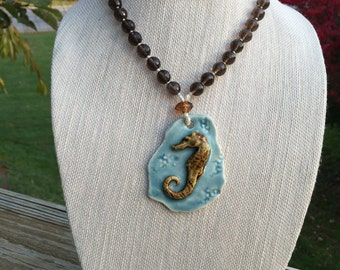 ON SALE - Seahorse necklace
