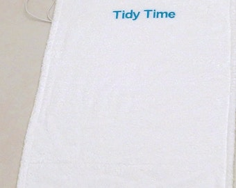 Personalized Changing Pad Cover Diapering Embroidered Cotton Terry Absorbent Boy Girl White Baby Travel Change Mat Swaddle Newborn Gift