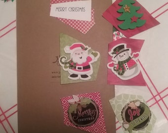 Mix and match Xmas Words that Bond, stickable slogans for greeting cards, customizable cards, mix and match slogans