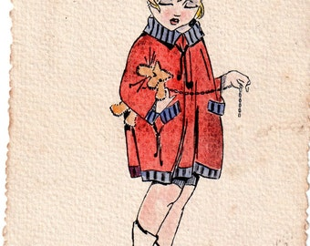 Antique Illustrated postcard from 1918