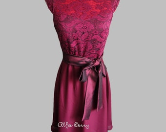 Burgundy bridesmaid dress Cheap bridesmaid dress Cap sleeve bridesmaid dress Bridesmaid dresses under 50 Wine bidesmaid dress Marsala dress