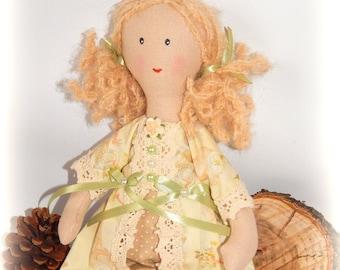Handmade fabric doll Sofia, cloth doll, Little Girl toys, Shabby doll, Rag doll, princess doll, Tilda doll