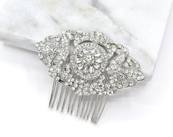 1920s Bridal Hair Comb Wedding Vintage Hair Comb Bridal Hair Comb Wedding Headpieces