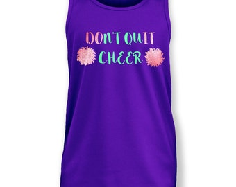 Don't Quit Cheer kids vest