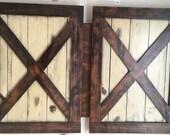 Barn Door Headboard - Rustic Headboard - Rustic Bedroom - X Brace Headboard - Wall Mounted Headboard - Rustic X Brace Headboard