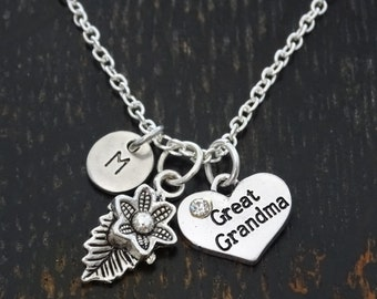 Great Grandma Necklace, Great Grandma Charm, Great Grandma Jewelry, Great Grandma Gift, Grandma to Be, Grandma Gift, Personalized Grandma
