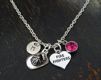 Firefighter Necklace, Firefighter Charm, Firefighter Pendant, Firefighter Jewelry, Firefighter Mom, Firefighter Girl, Firefighter Wife Gift