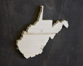 West Virginia State Wood Cutout