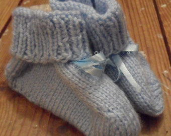 Knit Me Blue Booties