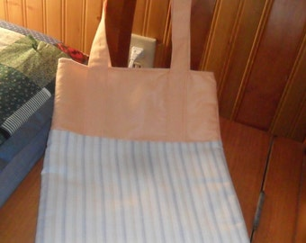 Just Peachy Striped Bag