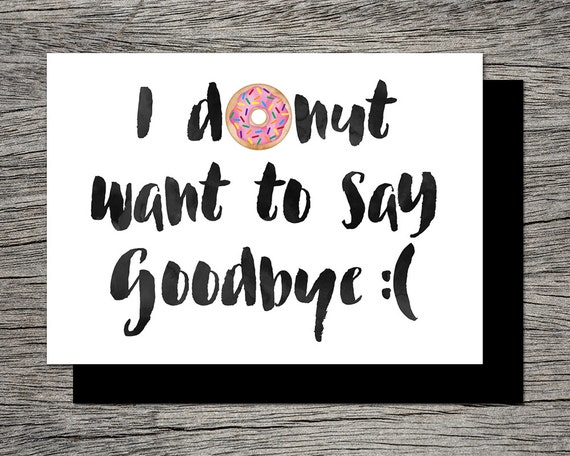 Punchy image in farewell card printable