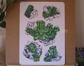Crystal green - illustration