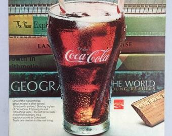 1970 Coca-Cola Print Ad - Coke after School