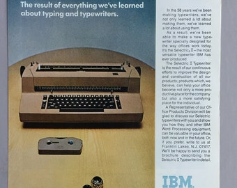 1971 IBM Selectric II Typewriter Print Ad