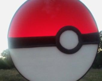 Stained Glass Pokemon Pokeball Sun Catcher