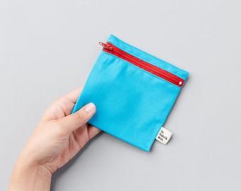 Reusable snack bag ~ small ~ snack Reusable zipper bags