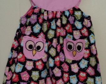 Baby Girl's Owl Dress Size 6 Months