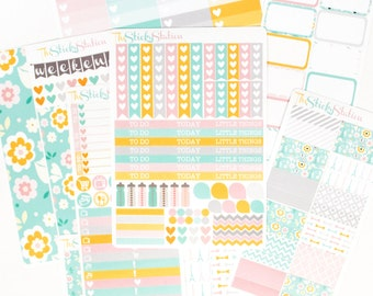 Bonjour, Paris! Sticker Kit - HORIZONTAL EC - Gorgeous Paris Inspired Functional Stickers