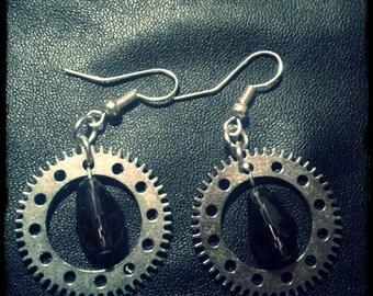 Gears earrings