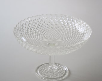 Vintage pressed glass compote, serving dish, cake stand