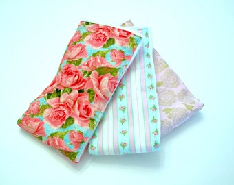 Vintage Roses ~ Burp Cloths ~ Set of 3
