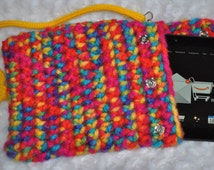 Pad Tablet Kindle or Phone Protector Handmade Crochet Thick Cushioning