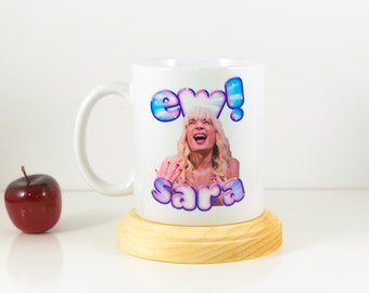 Jimmy Fallon Ew Sara   Valentines Gift for Her   Ew Sara   College gifts   Jimmy Fallon Mug   Dorm Gift   Gift for Her   Gag Gift   TV Shows