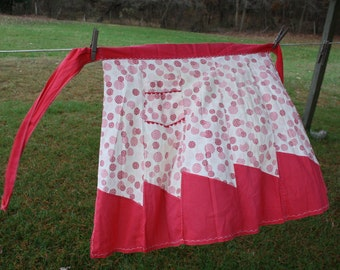 Red and Pink Vintage Apron