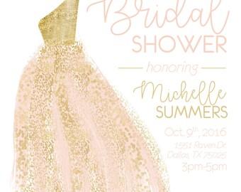 Printable Bridal Shower Invitation | DIGITAL FILE | Wedding Printable