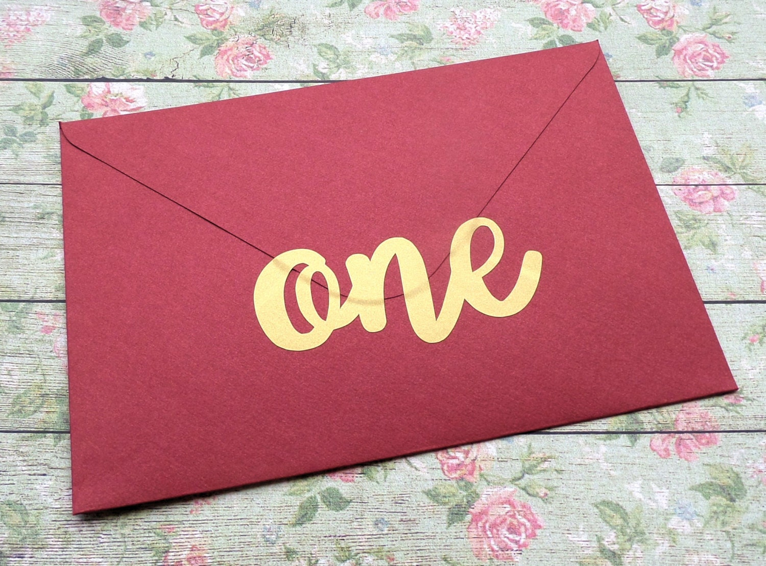 15 ONE stickers 1st birthday invitation seal gold envelope