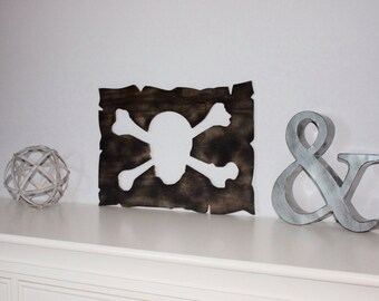 Pirate Skull and Crossbones Cutout Wall Art / Pirate Wall Decor / Pirate Decor / Pirate Cutouts / Kid's Room Decor / Pirate Room Decor