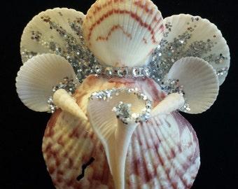 Handmade Seashell Angel Ornament