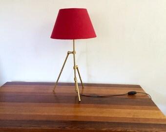 FirstTri Tabletop Brass Lamp