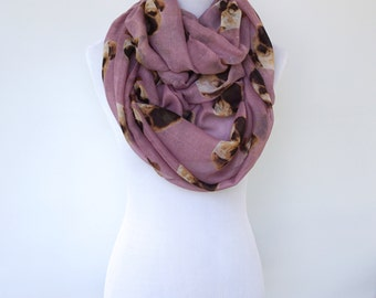 Infinity Scarf, Pink Spring Scarf, Fashion Scarf, Women's Scarf, Gift For Her, Boho Scarf Shawl, Bohemian Accessories, Mothers Day Gift