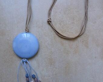 Breeze Necklace. Long necklace. Tassel necklace.
