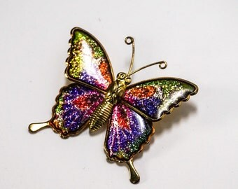 Psychedelic Butterfly Pin Brooch 9610