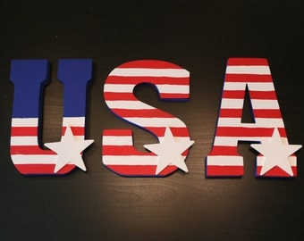 USA Stand-Up Letters