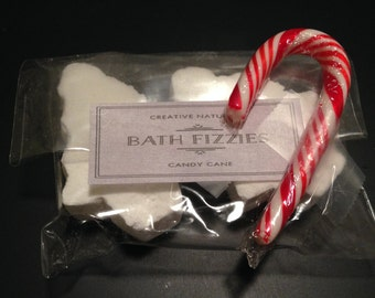 Candy Cane Bath Fizzies