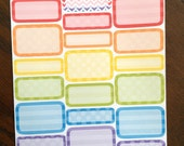 Party Rainbow Boxes Planner Stickers