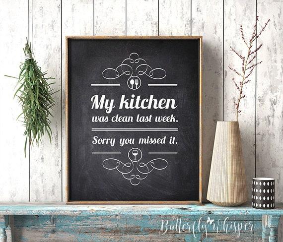 My Kitchen Wall Decor : Kitchen sign decor wall art chalkboard
