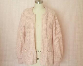 Chunky Pink Knit Sweater