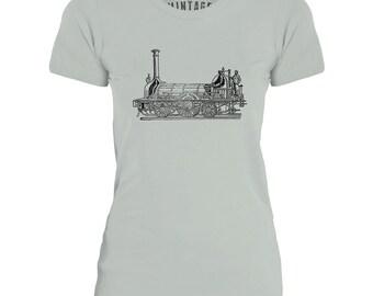 Mintage Steam Powered Train Womens Fine Jersey T-Shirt