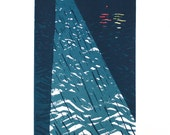 Screen Print Poster - Lighthouse in the Storm