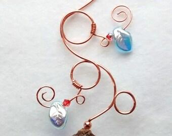 Translucent Blue Marble Fairy Acorn