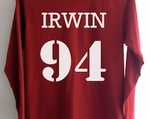 Ashton Irwin 94 Shirt Clothing 5 seconds of summer Crimson Red Women Tshirt Tee Long Sleeve T-Shirt SMLXLXXL