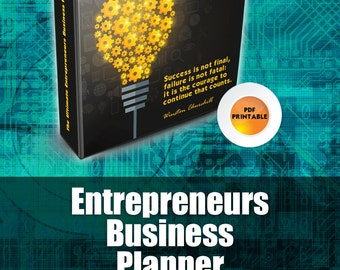 Entrepreneurs Business Planner | Small Business Planner, Planners and Organizers, Printable Planner Pages,  PDF Planner, Best DIY Planner