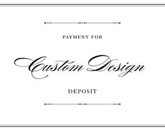 Custom Design, Wedding Invitation - DEPOSIT