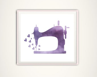 Sewing Machine Print - Craft Room Art, Sewing Machine Art, Gift for Quilters, Craft Room Wall Decor, Sewing Room Art, Sewing Room Sign